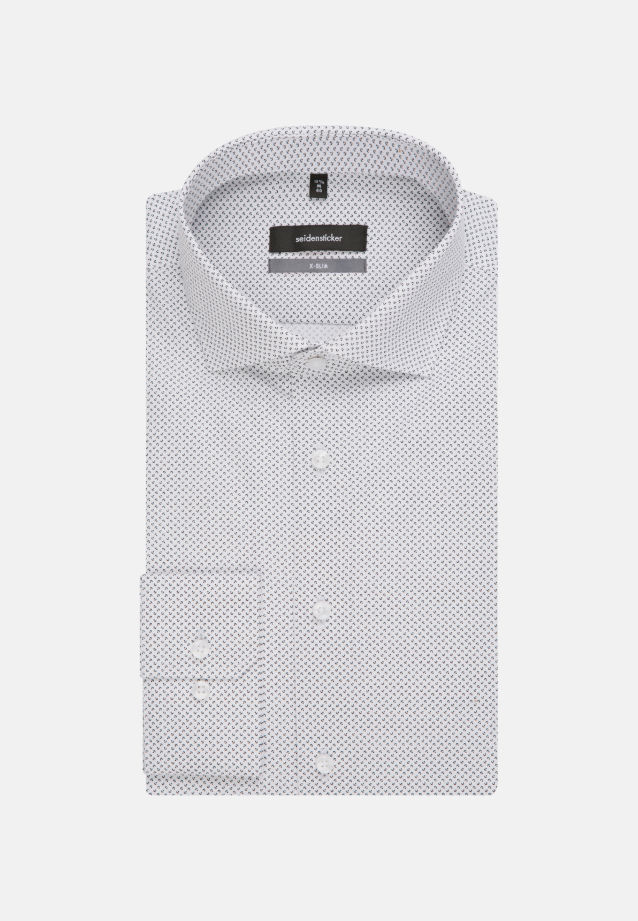 Easy-iron Poplin Business Shirt in X-Slim with Kent-Collar and extra long arm in Black |  Seidensticker Onlineshop