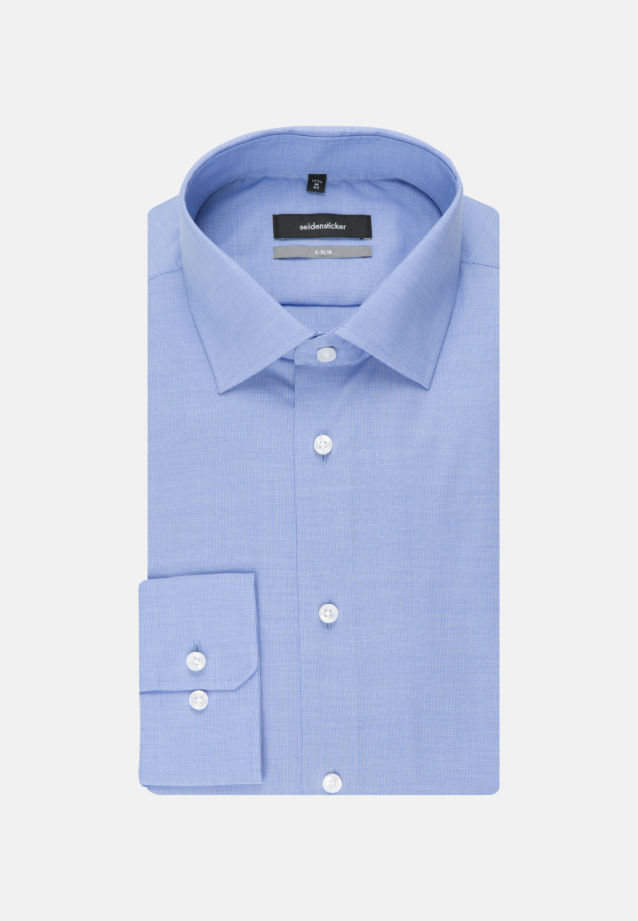 Easy-iron Structure Business Shirt in X-Slim with Kent-Collar and extra long arm in blau |  Seidensticker Onlineshop