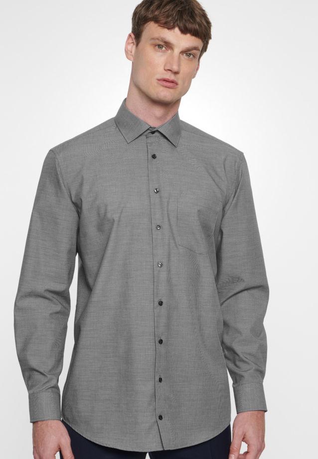Non-iron Structure Business Shirt in Comfort with Kent-Collar in blau |  Seidensticker Onlineshop
