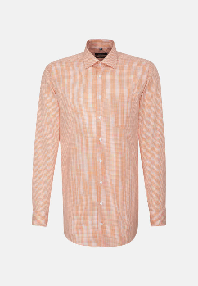 Non-iron Poplin Business Shirt in Comfort with Kent-Collar and extra long sleeve in Orange |  Seidensticker Onlineshop