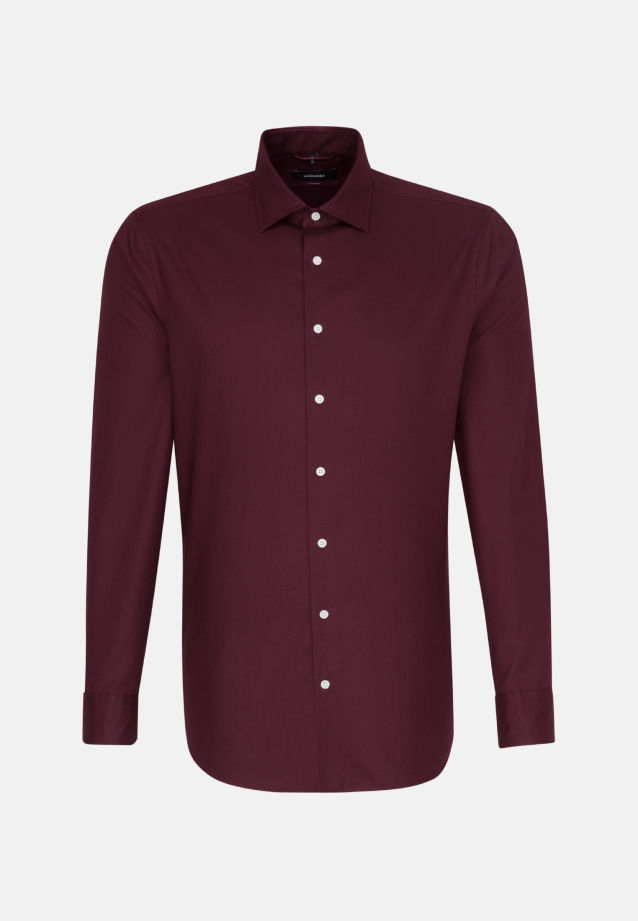 Easy-iron Twill Business Shirt in Modern with Kent-Collar in Red |  Seidensticker Onlineshop