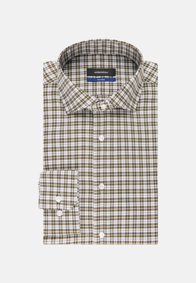 Non-iron Twill Business Shirt in Shaped with Kent-Collar in Green |  Seidensticker Onlineshop