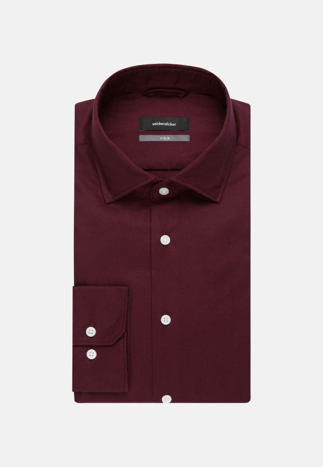 Easy-iron Twill Business Shirt in X-Slim with Kent-Collar in rot |  Seidensticker Onlineshop