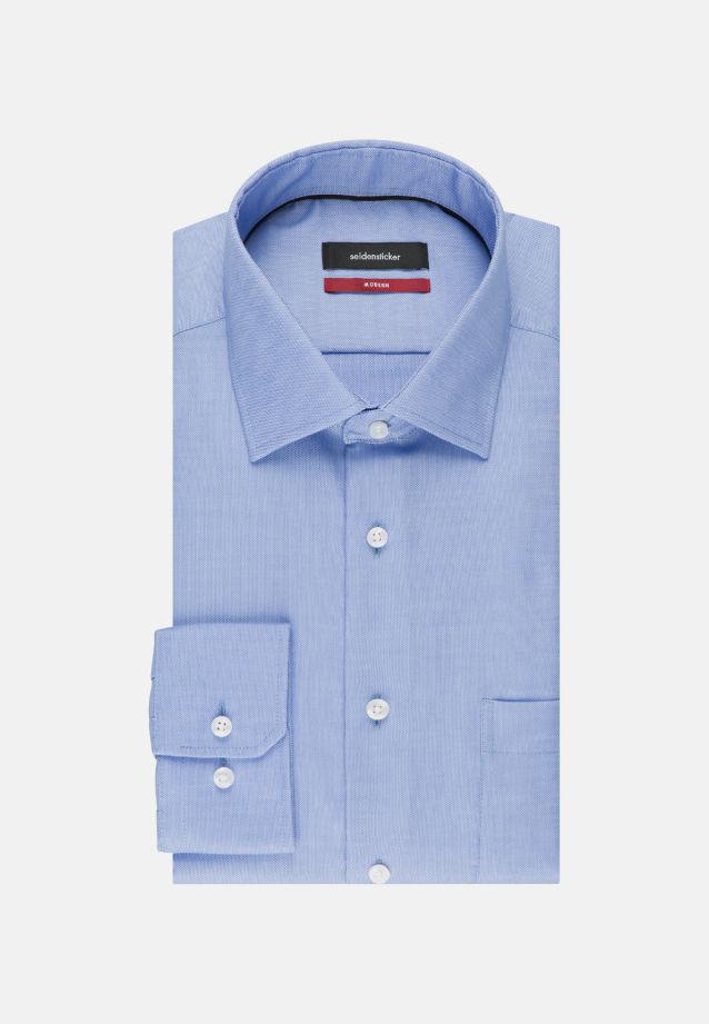Bügelfreies Struktur Business Hemd in Modern mit Kentkragen und extra langem Arm in hellblau |  Seidensticker Onlineshop