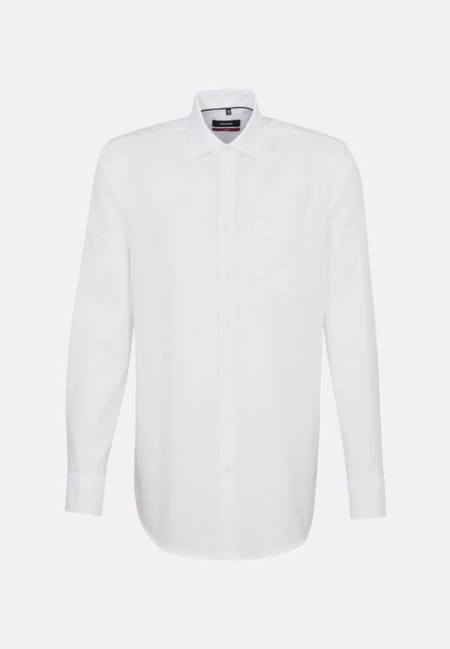 Non-iron Structure Business Shirt in Modern with Kent-Collar and extra long arm in White |  Seidensticker Onlineshop
