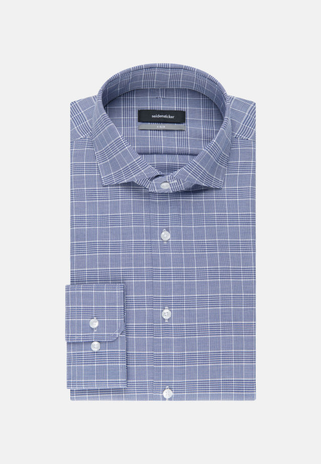 Easy-iron Twill Business Shirt in X-Slim with Kent-Collar in Medium blue |  Seidensticker Onlineshop