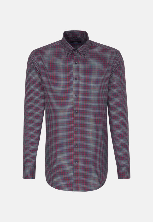 Easy-iron Twill Business Shirt in Shaped with Button-Down-Collar in Red |  Seidensticker Onlineshop