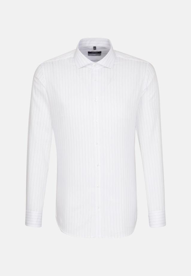 Bügelleichtes Twill Business Hemd in X-Slim mit Kentkragen in blau    Seidensticker Onlineshop