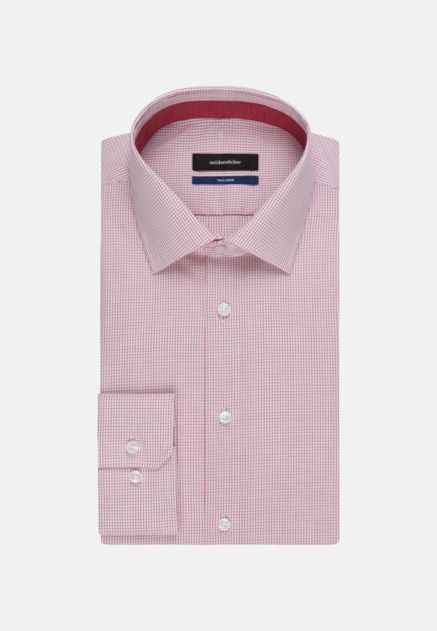 Bügelfreies Popeline Business Hemd in Shaped mit Kentkragen in Rot |  Seidensticker Onlineshop