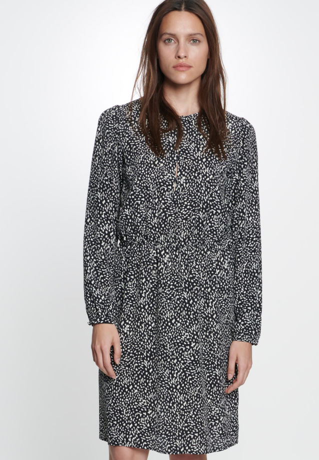 Crepe Dress made of 100% Viskose in Grey |  Seidensticker Onlineshop