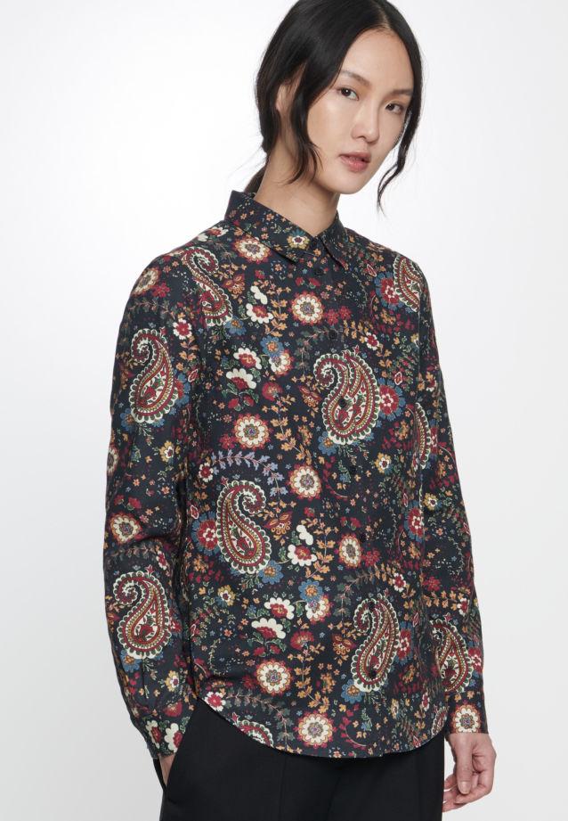 Twill Shirt Blouse made of 100% Cotton in Grey |  Seidensticker Onlineshop
