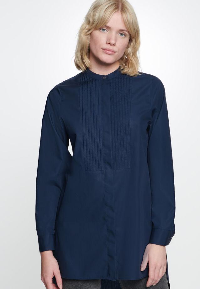 Popeline Longbluse aus 100% Baumwolle in Dunkelblau |  Seidensticker Onlineshop