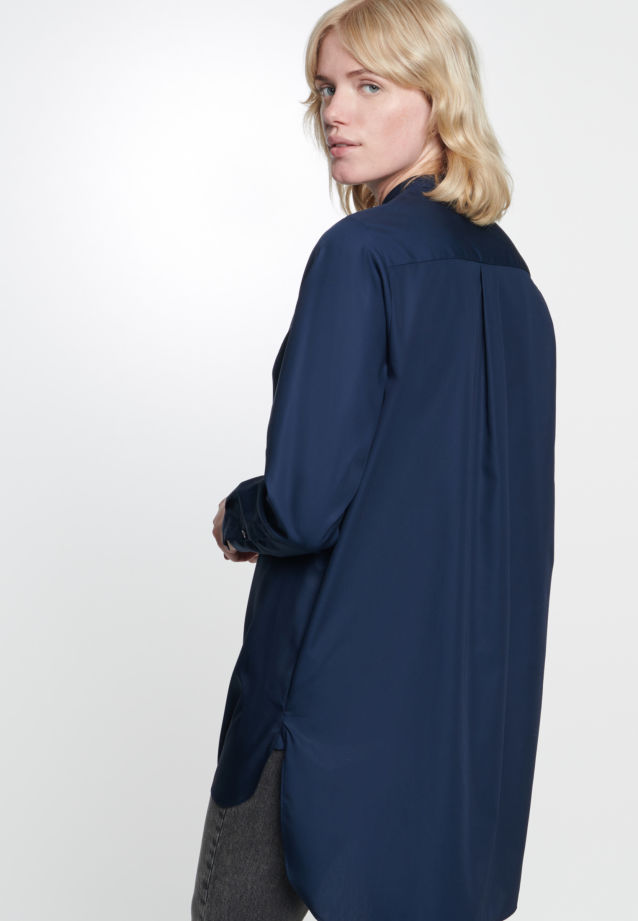Poplin Long Blouse made of 100% Cotton in Dark blue |  Seidensticker Onlineshop