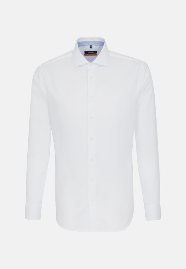 Non-iron Twill Business Shirt in Slim with Kent-Collar and extra long arm in weiß |  Seidensticker Onlineshop