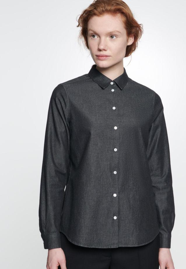 Denim Shirt Blouse made of 100% Cotton in schwarz |  Seidensticker Onlineshop