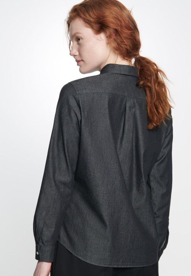 Denim Hemdbluse aus 100% Baumwolle in Grau |  Seidensticker Onlineshop