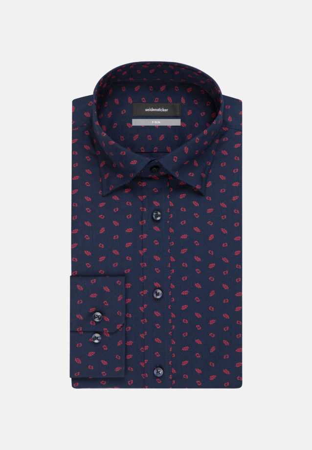 Bügelleichtes Popeline Business Hemd in X-Slim mit Covered-Button-Down-Kragen in Rot |  Seidensticker Onlineshop