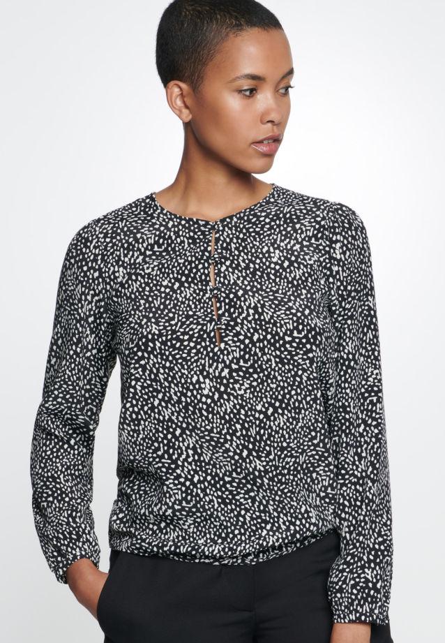 Crepe Shirt Blouse made of 100% Viscose in Grey |  Seidensticker Onlineshop