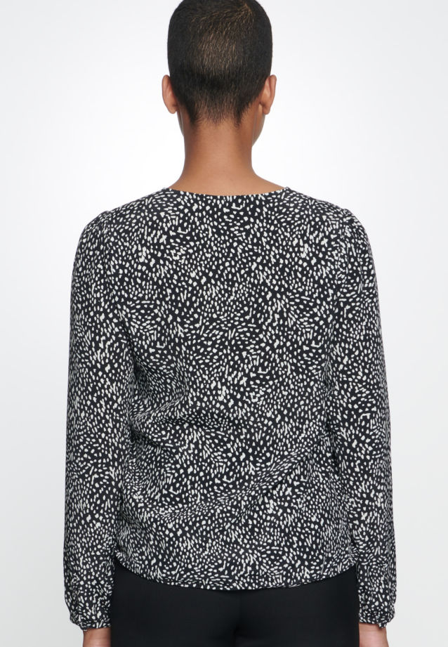 Krepp Hemdbluse aus 100% Viskose in Grau |  Seidensticker Onlineshop