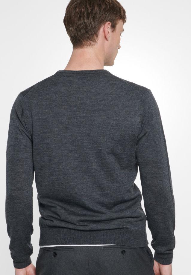 Crew Neck Pullover made of 100% Wolle in grey    Seidensticker Onlineshop