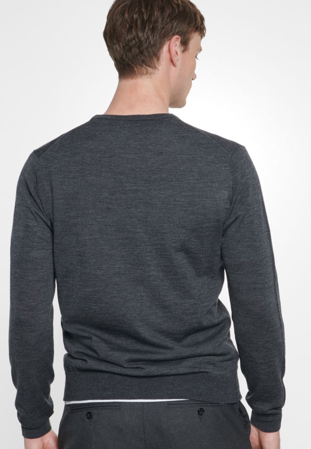 Crew Neck Pullover made of 100% Wolle in Grey |  Seidensticker Onlineshop