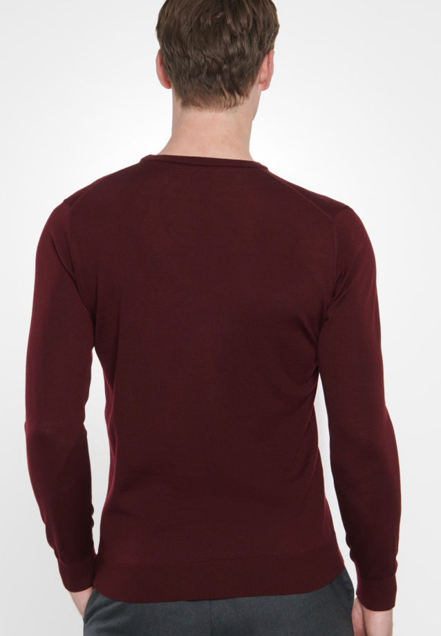 Crew Neck Pullover made of 100% Wool in Red |  Seidensticker Onlineshop