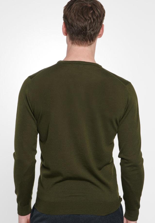 Crew Neck Pullover made of 100% Wolle in grün    Seidensticker Onlineshop
