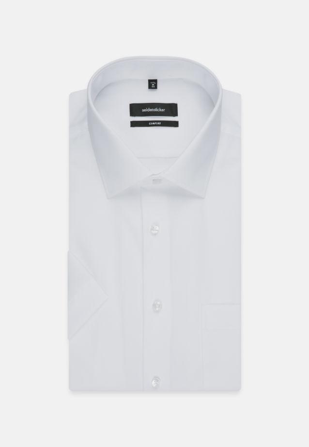 Bügelfreies Popeline Kurzarm Business Hemd in Comfort mit Kentkragen in weiß    Seidensticker Onlineshop
