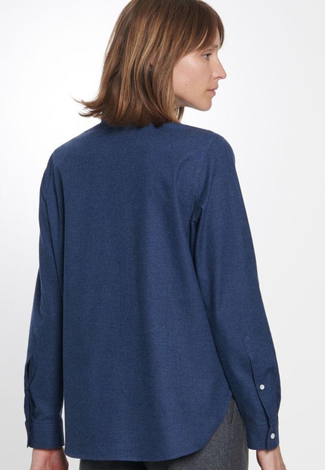 Flannel Shirt Blouse made of 100% Cotton in blau |  Seidensticker Onlineshop