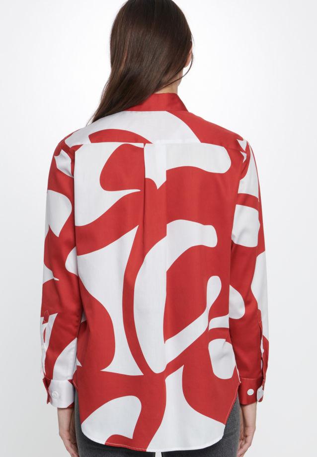 Satin Shirt Blouse made of 100% Cotton in Red |  Seidensticker Onlineshop