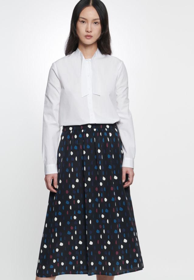 Chiffon Skirt made of 100% Viskose in schwarz |  Seidensticker Onlineshop