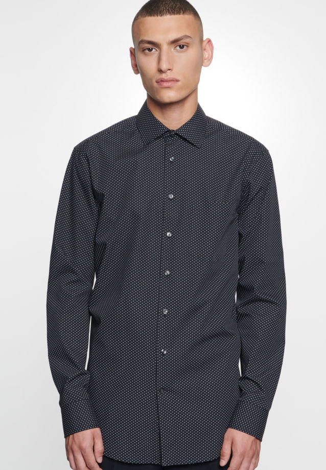 Easy-iron Poplin Business Shirt in Regular with Kent-Collar in Grey |  Seidensticker Onlineshop