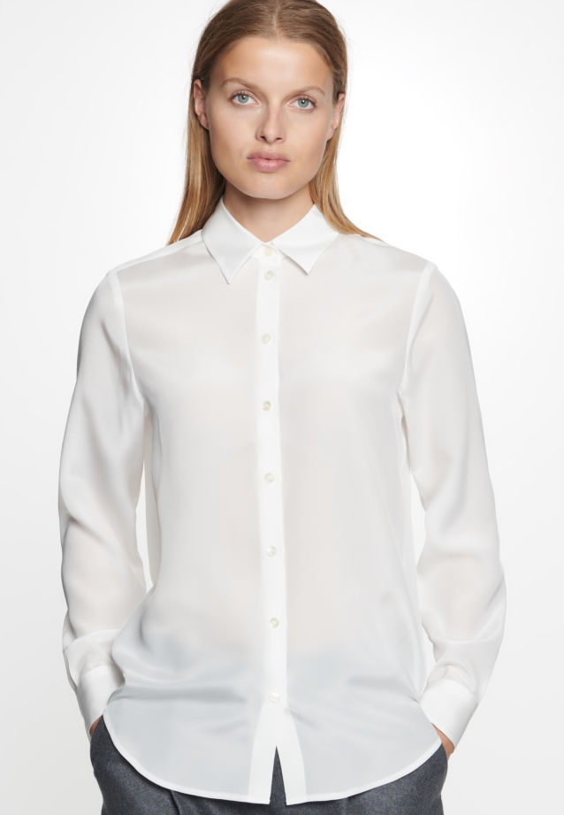 Crepe Shirt Blouse made of 100% Silk in White |  Seidensticker Onlineshop