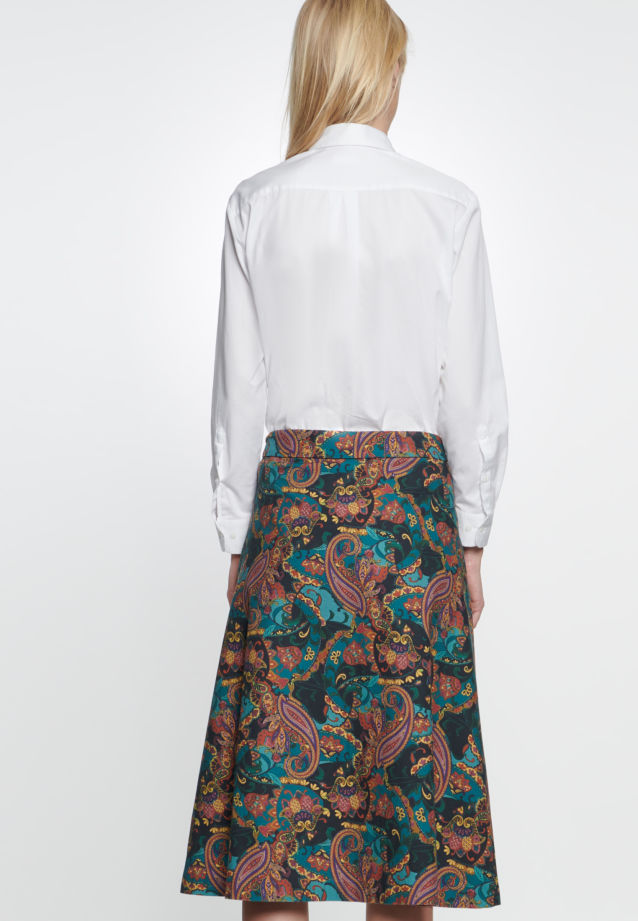 Twill Midi Skirt made of 100% Cotton in Orange |  Seidensticker Onlineshop