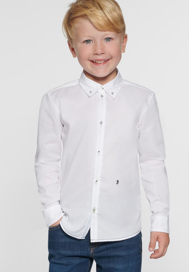 Children Shirt Long Arm Button-down-collar in Weiß |  Seidensticker Onlineshop