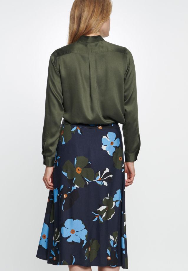 Twill Skirt made of 100% Viskose in blau |  Seidensticker Onlineshop
