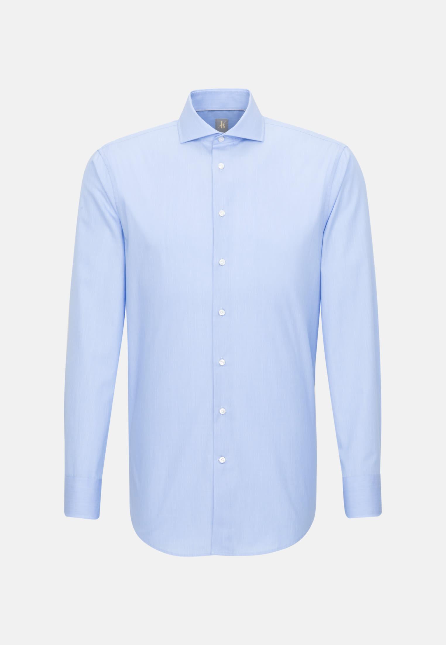 Hahnentritt Business Hemd in Custom Fit mit Kentkragen in Hellblau    Jacques Britt Onlineshop