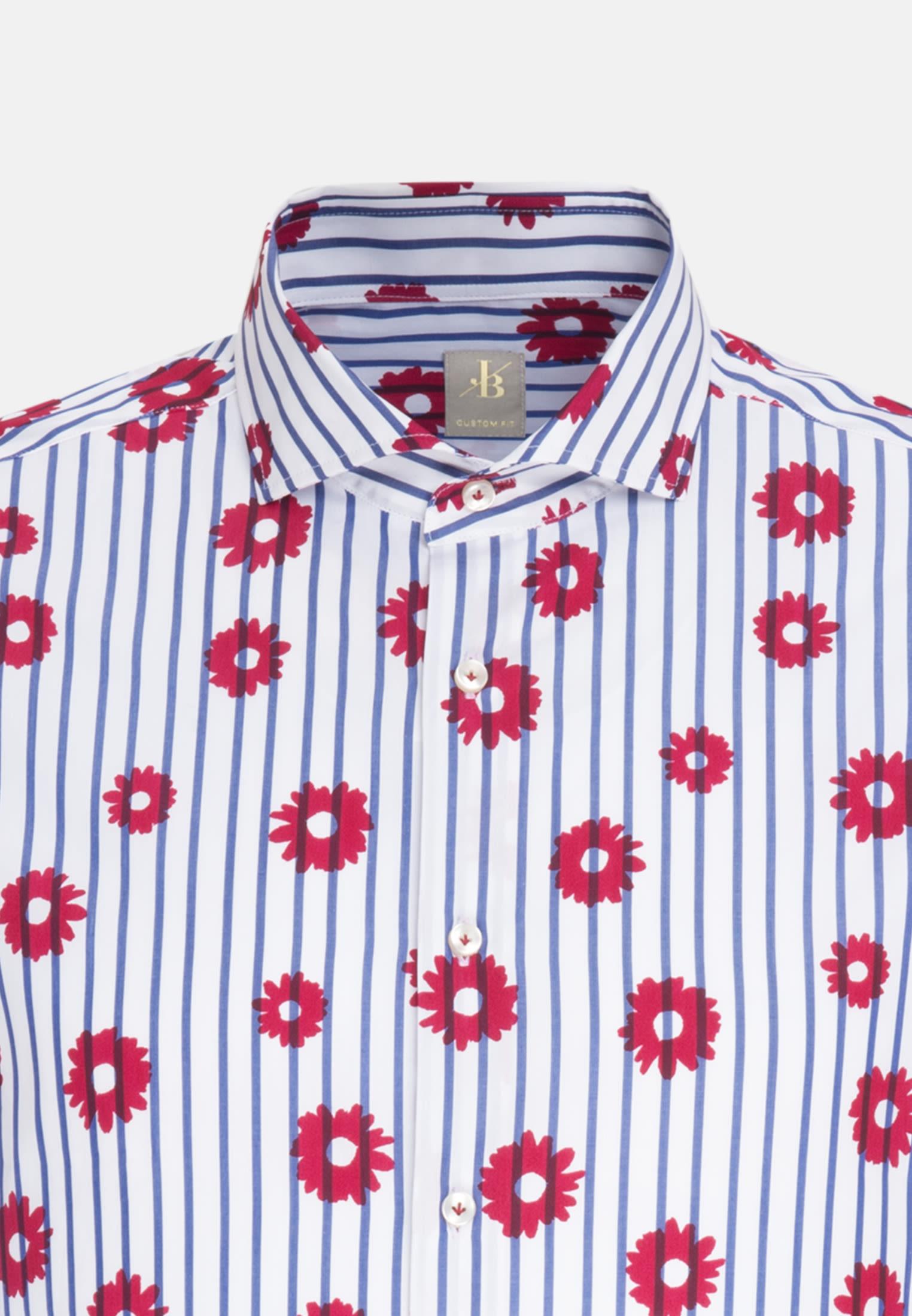 Popeline Business Hemd in Custom Fit mit Haifischkragen in Rot    Jacques Britt Onlineshop