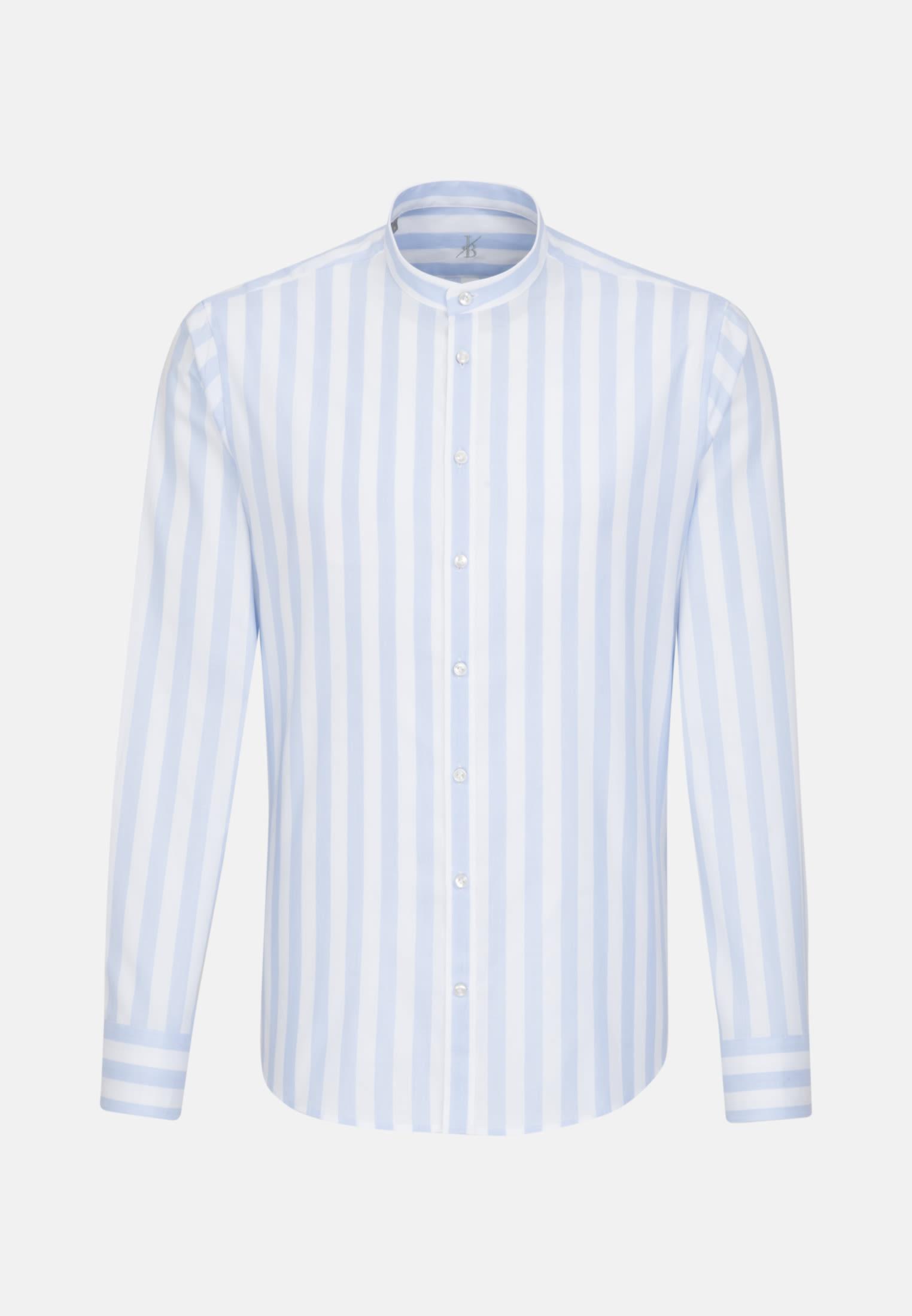 Oxford Smart Casual Hemd in Perfect Fit mit Stehkragen in Hellblau    Jacques Britt Onlineshop