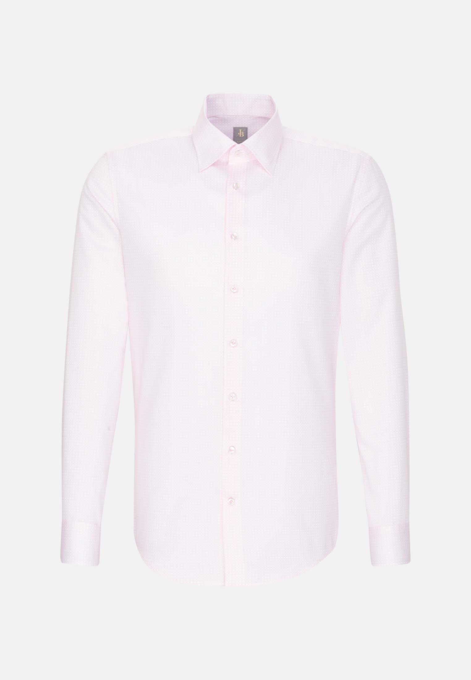 Struktur Business Hemd in Slim Fit mit Under-Button-Down-Kragen in Rosa/Pink    Jacques Britt Onlineshop