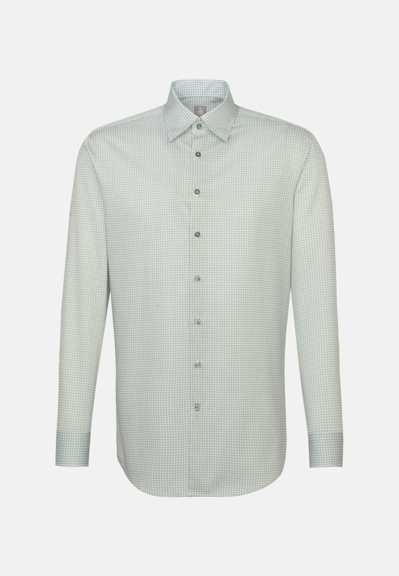 Struktur Business Hemd in Slim Fit mit Under-Button-Down-Kragen in Grün |  Jacques Britt Onlineshop