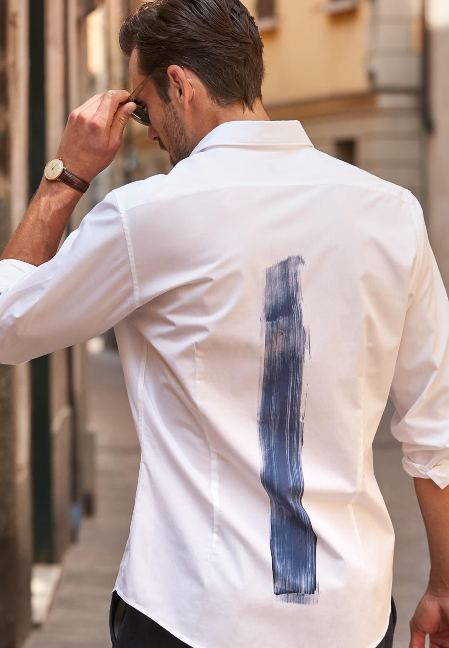 Popeline Smart Casual Hemd in Perfect Fit mit Kentkragen in Weiß    Jacques Britt Onlineshop