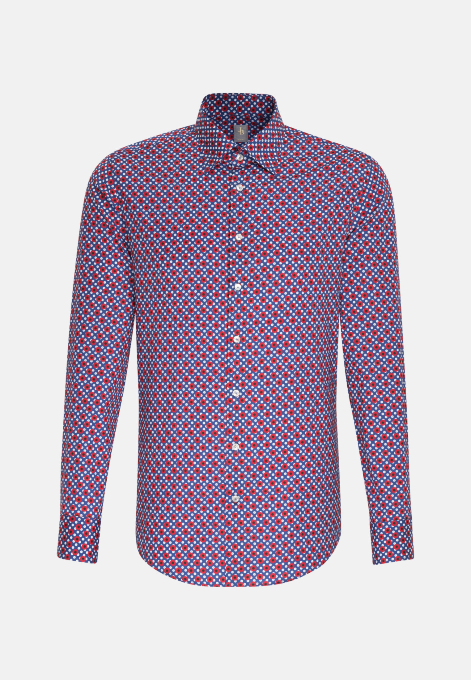 Popeline Business Hemd in Slim Fit mit Under-Button-Down-Kragen in Rot |  Jacques Britt Onlineshop