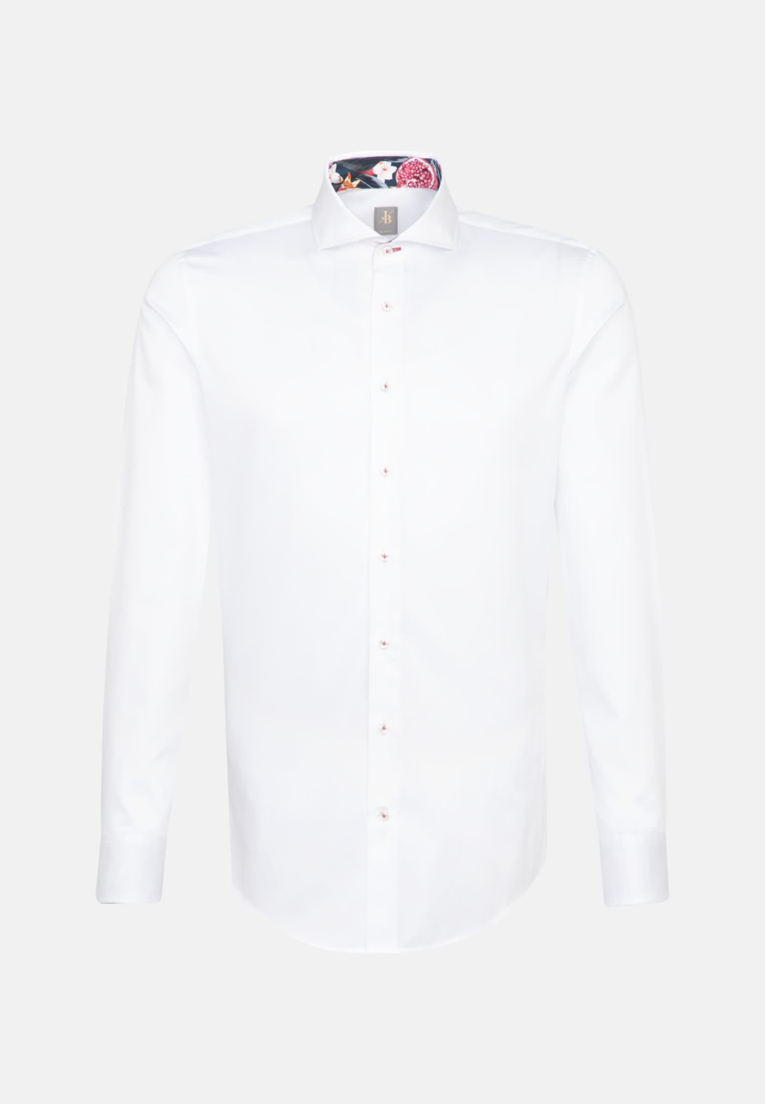Satin Business Hemd in Slim Fit mit Haifischkragen in Weiß    Jacques Britt Onlineshop
