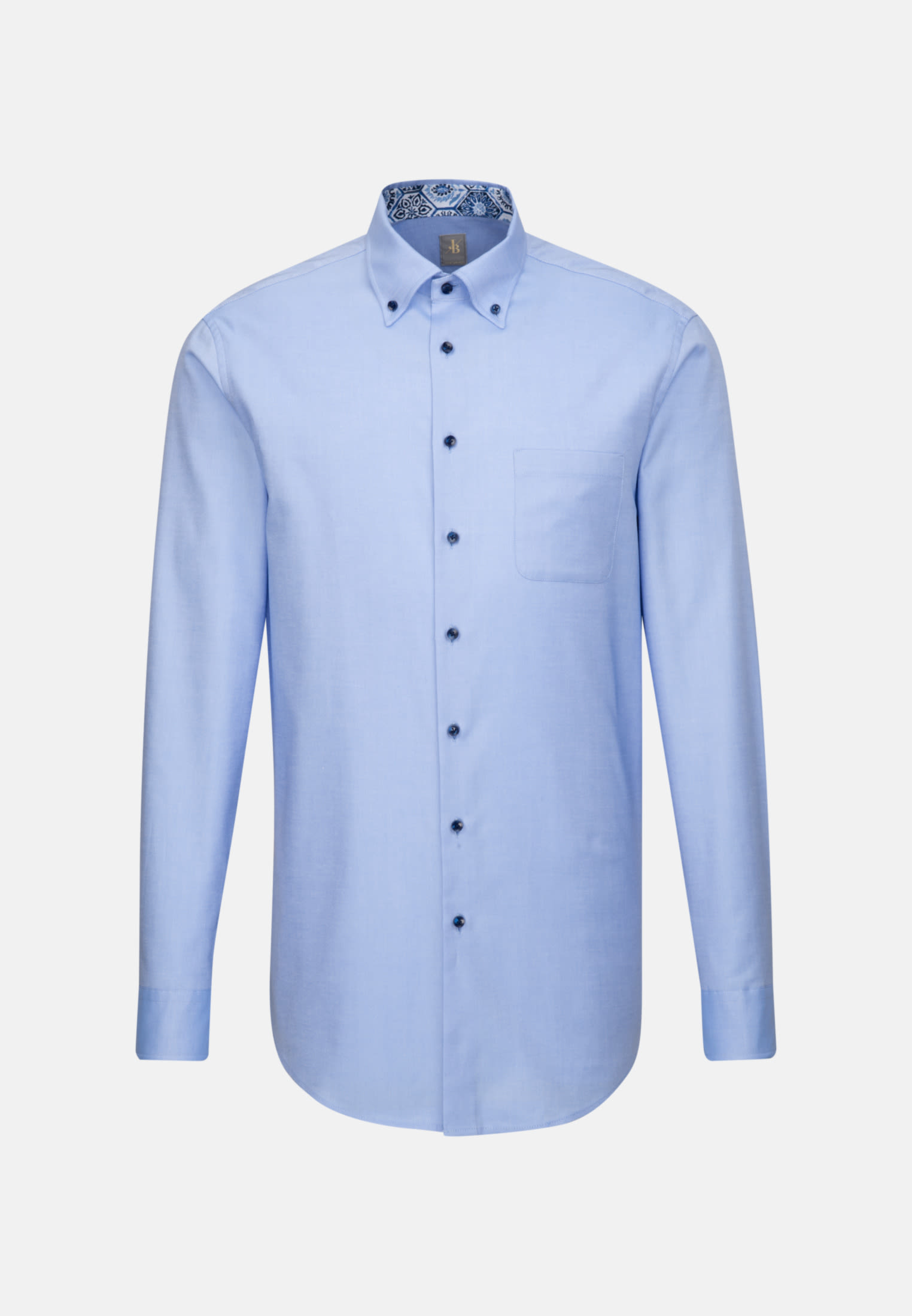 Oxford Business Hemd in Custom Fit mit Button-Down-Kragen in Hellblau |  Jacques Britt Onlineshop