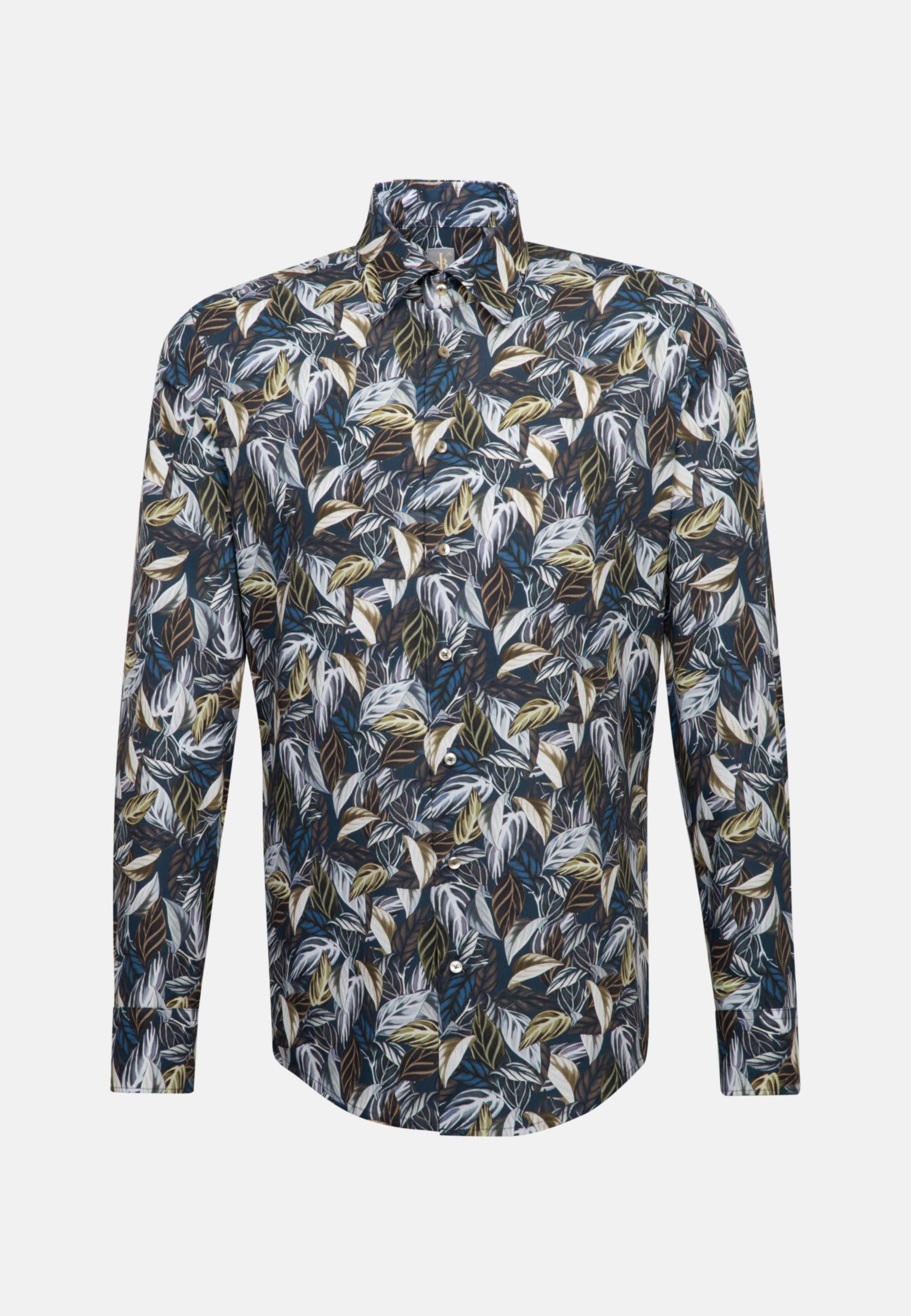 Popeline Business Hemd in Slim Fit mit Under-Button-Down-Kragen in Grün |  Jacques Britt Onlineshop