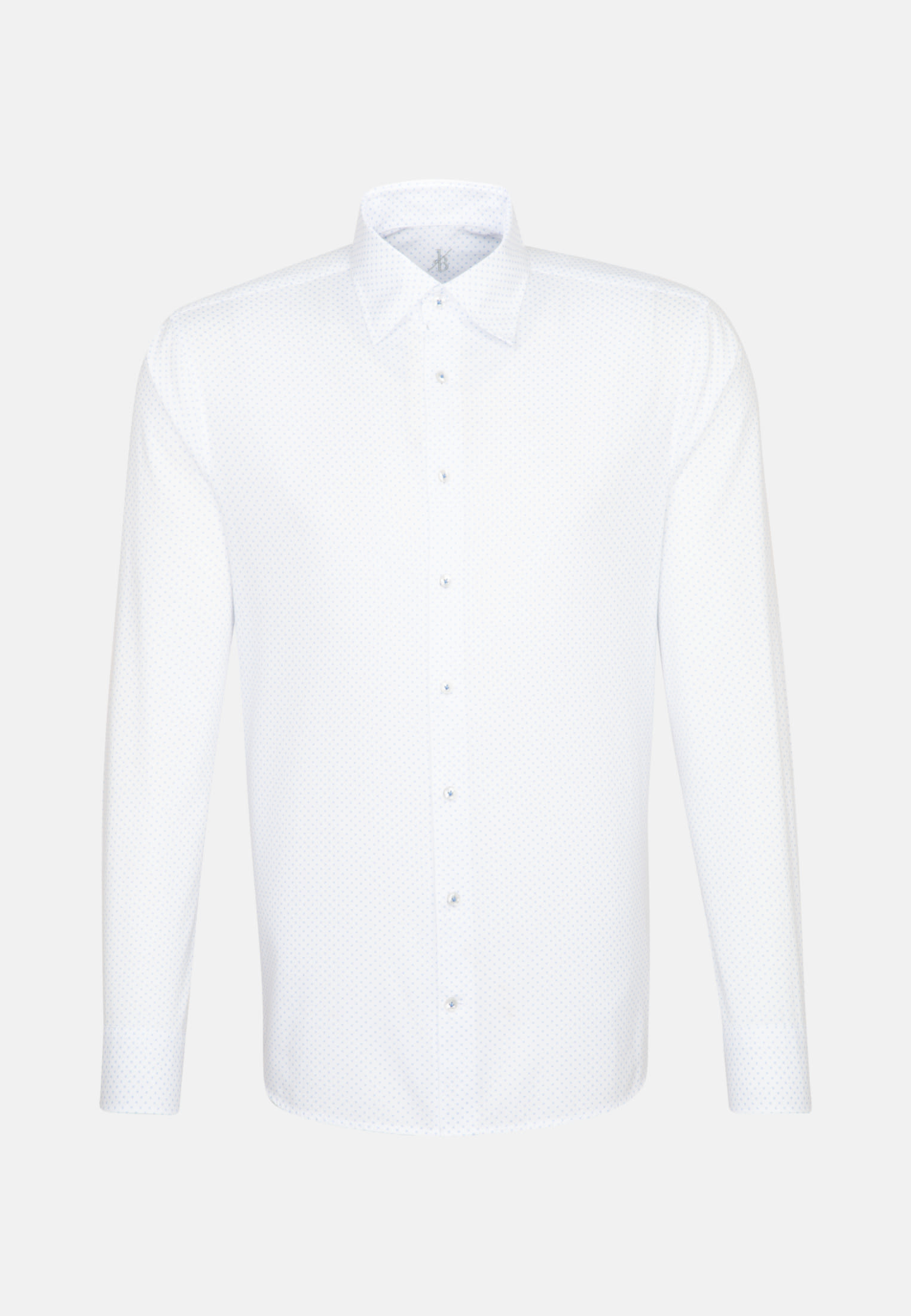 Oxford Smart Casual Hemd in Perfect Fit mit Under-Button-Down-Kragen in Hellblau |  Jacques Britt Onlineshop