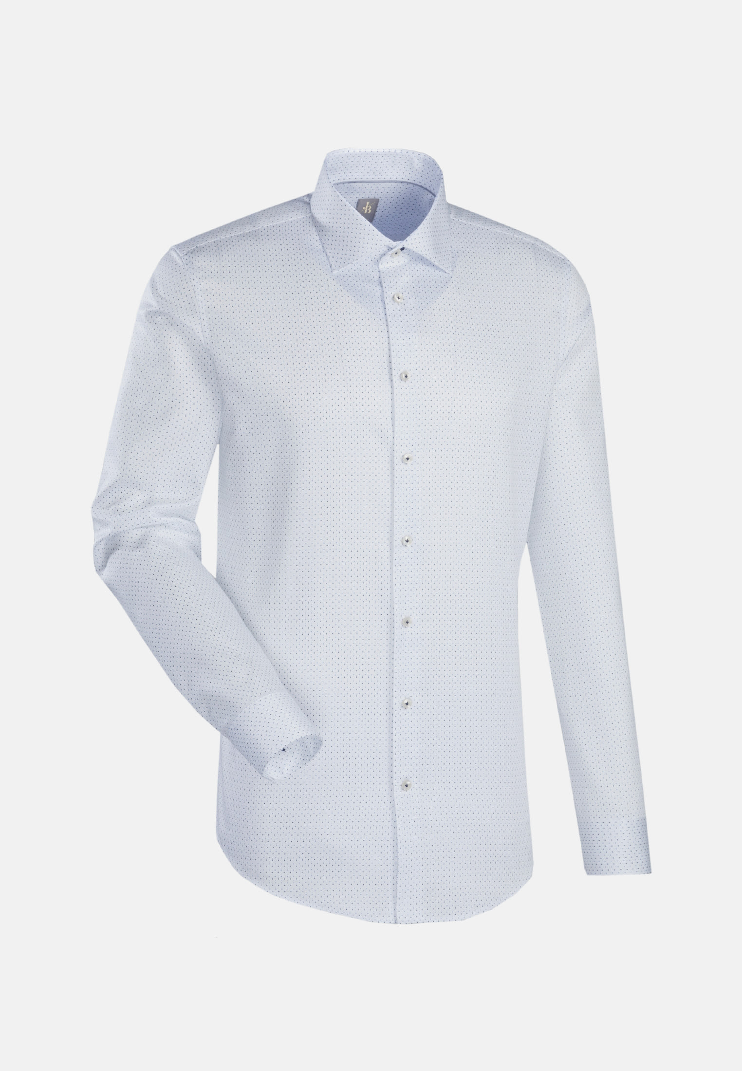 Struktur Business Hemd in Slim Fit mit Kentkragen in Weiß |  Jacques Britt Onlineshop