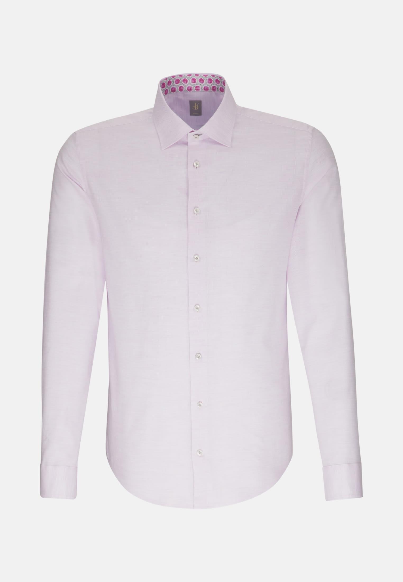 Struktur Smart Casual Hemd in Slim Fit mit Kentkragen in Rosa/Pink |  Jacques Britt Onlineshop