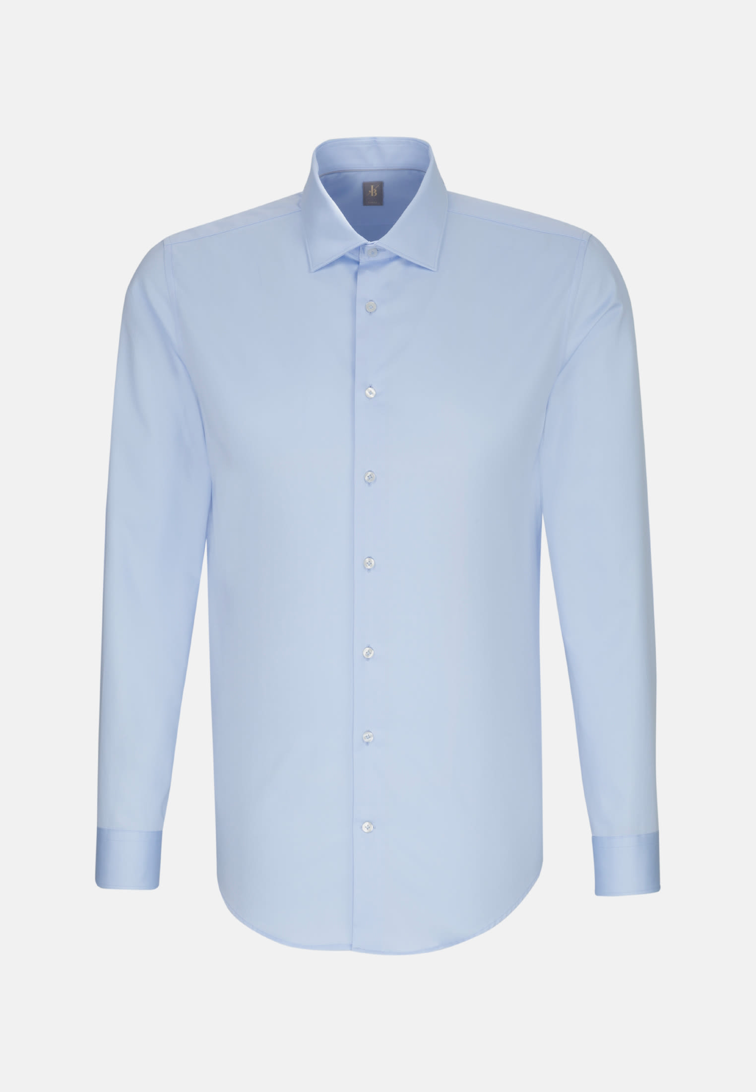 Satin Business Hemd in Slim Fit mit Kentkragen in Hellblau |  Jacques Britt Onlineshop